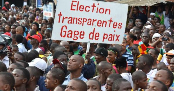 GUINEA 20-09-12 PROTEST
